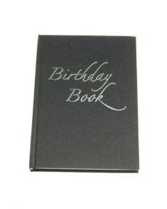 Birthday book A6 svart