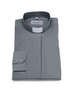 Prästskjorta Frimärke Dam Ljusgrå lång ärm stl 42