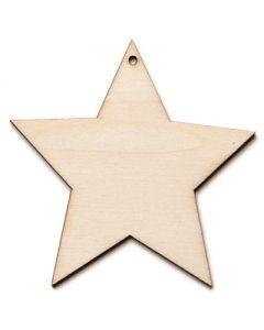 Träfigur - stjärna, 5-pack