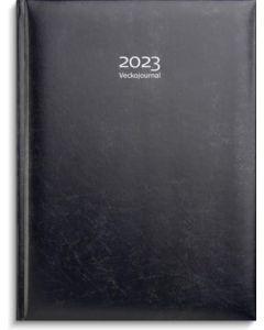 Veckojournal 2023, mörkblått konstläder, FSC Mix