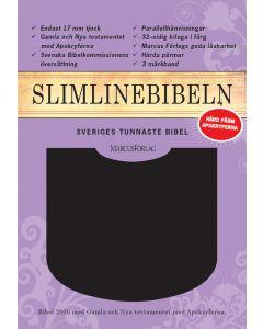 Slimline Bibeln svart cabraskinn med apokryferna