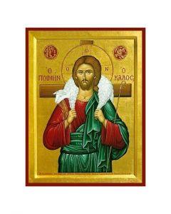 Ikon - Jesus den gode herden -  6x8 cm
