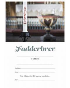 Fadderbrev - Dopljus 10st/fp