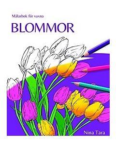 Blommor : målarbok för vuxna