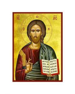 Ikon - Jesus välsignar -  10x14 cm