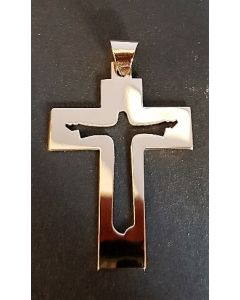 Halsband, uppståndelsekors, guld, stort