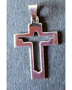 Halsband, uppståndelsekors, silver, litet