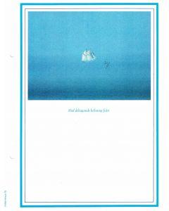 Minnesblad med segelbåt, 10-p