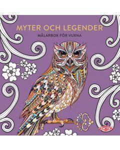 Myter och legender - Målarbok för vuxna