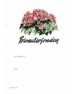 Minnesblad blomma. Blomsterfonden, 10-p