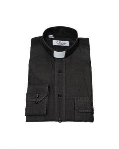 Prästskjorta Frimärke Herr Lång ärm Jeanssvart Stl XL