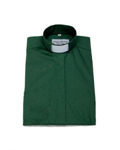 Diakonskjorta Frimärke Strykfri Kort ärm Olivgrön strl 3XL