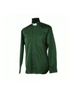 Diakonskjorta Frimärke Strykfri Lång ärm Mörkgrön strl XL