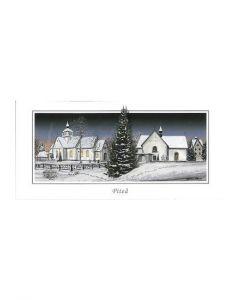 Julkort Piteåmotiv vikkort med kuvert