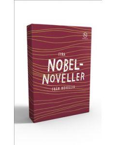 Presentask med fyra Nobelnoveller från Novellix: Steinbeck, Morrison m fl