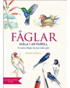 Fåglar - måla i akvarell