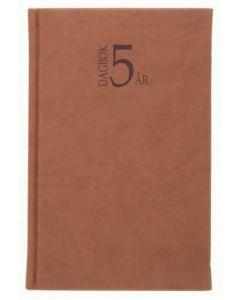 5-årsdagbok konstläder cognac-1055