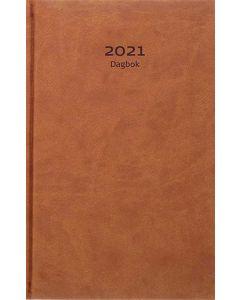 Dagbok, cognac konstläder 2021