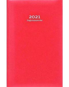 Dagbokskalender, rött konstläder inbunden, FSC Mix 2021