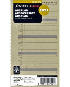 Filofax personal årsplan 2021