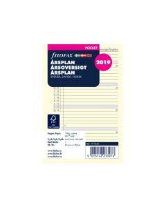 Filofax Pocket årsplan 2020