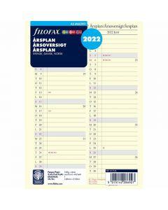Filofax Pocket årsplan 2022