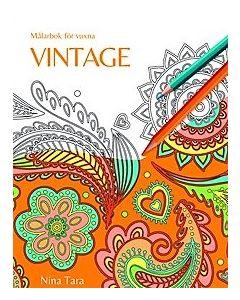Vintage : målarbok för vuxna