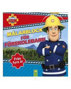 Brandman Sam : Målarblock för förskolebarn