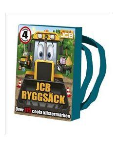 JCB ryggsäck : innehåller 4 pysselböcker och kritor - över 175 coola klistermärken