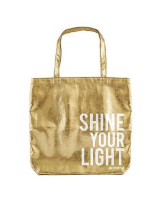 Tygväska guld - Shine your light