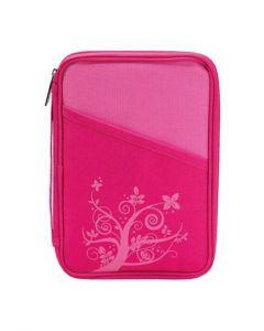 Bibelfodral medium-thinline rosa canvas