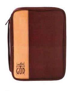 Bibelfodral M. Slim, Man of god, brun