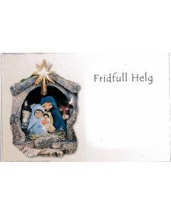 Julkort, enkla, 10-p med kuvert