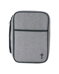 Bibelfodral thinline grå