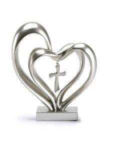 Bordsprydnad – Hjärtan med kors