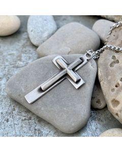 Halsband, kors, tenn
