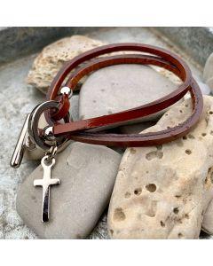 Armband Kors brun