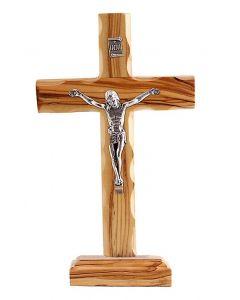 Bordskrucifix  Olivträ