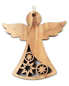 Ängel - Hängprydnad, stjärnor -  Fairtrade 6cm olivträ