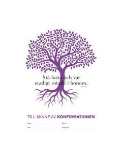 Konfirmandminne - träd lila 1 st