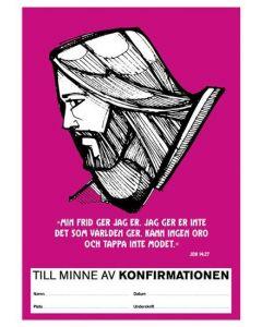 Konfirmandminne - Jesus rosa 1 st