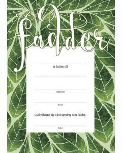 Fadderbrev - löv pastor 10st/fp