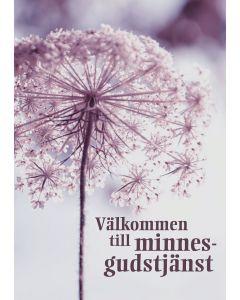 Inbjudan till minnesgudstjänst - Blomma 10st/fp