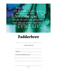 Fadderbevis - Joh 3:16 10stfp