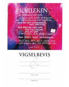 Vigselbevis - 1 Kor 13 10st/fp