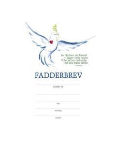 Fadderbrev - duva 10st/fp