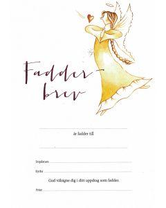 Fadderbrev - ängel 2 10st/fp