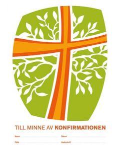 Konfirmandminne - kors orange, 10-pack