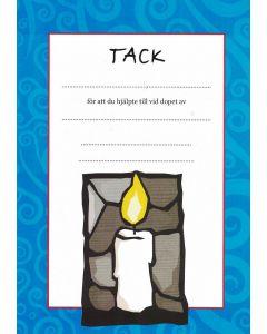 Doptack - ljus (blått) 10st/fp