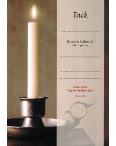 Doptack - ljus (brunt) 10st/fp